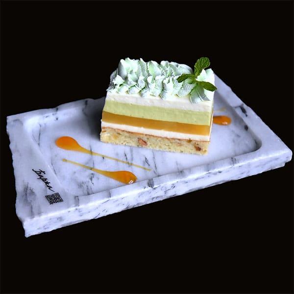 Тарілка з мармуру для десерту