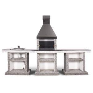 Барбекю комплекс Stimlex Darina L + стіл + мийка